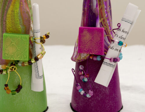 """Made-in-the-USA 6/"""" Tall Colorful Polymer Clay Prayer Partner Doll by Gwen Piña"""