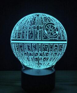 Star Wars Death Star Night Light New 3D LED Multicolor