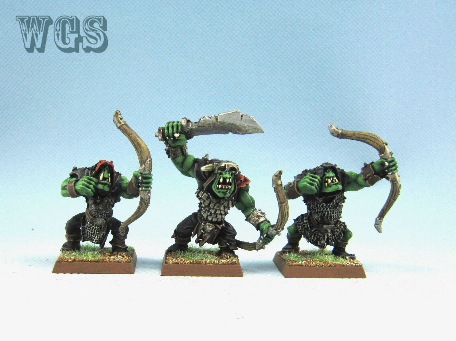 25mm Warhammer Fantasy WGS painted Orcs & Goblins Orc Arrer Boyz OR029