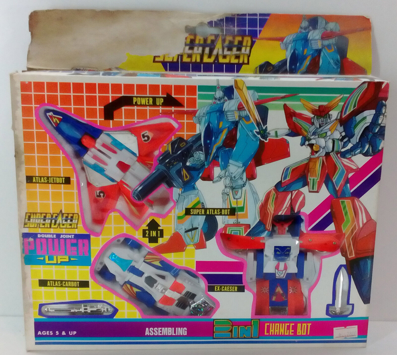 VTG 2 IN IN IN 1 CHANGE BOT SUPER LASER DOUBLE JOINT TRANSFORMERS KO MADE IN TAIWAN 136ebd