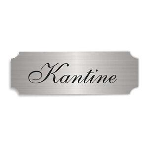 Selbstklebendes Schild « KANTINE » Türschild modern Mensa Großküche Werkküche