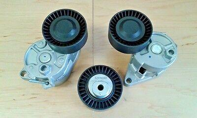 NEW BMW  Drive Belt Alternator A/C Tensioner Idler Pulley Set 3PCS 100 solds