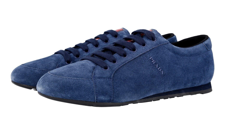 shoes PRADA LUXUEUX 4E3234 blue NOUVEAUX 9,5 43,5 44