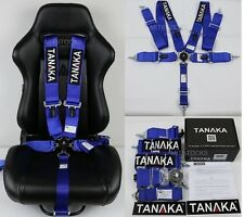 "1 TANAKA BLUE 5 POINT CAMLOCK RACING SEAT BELT HARNESS 3"" SFI 16.1 CERTIFIED"
