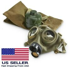 Vintage Child Size Small Military Full Face Gas Mask M75 W 40mm Filter Amp Bag