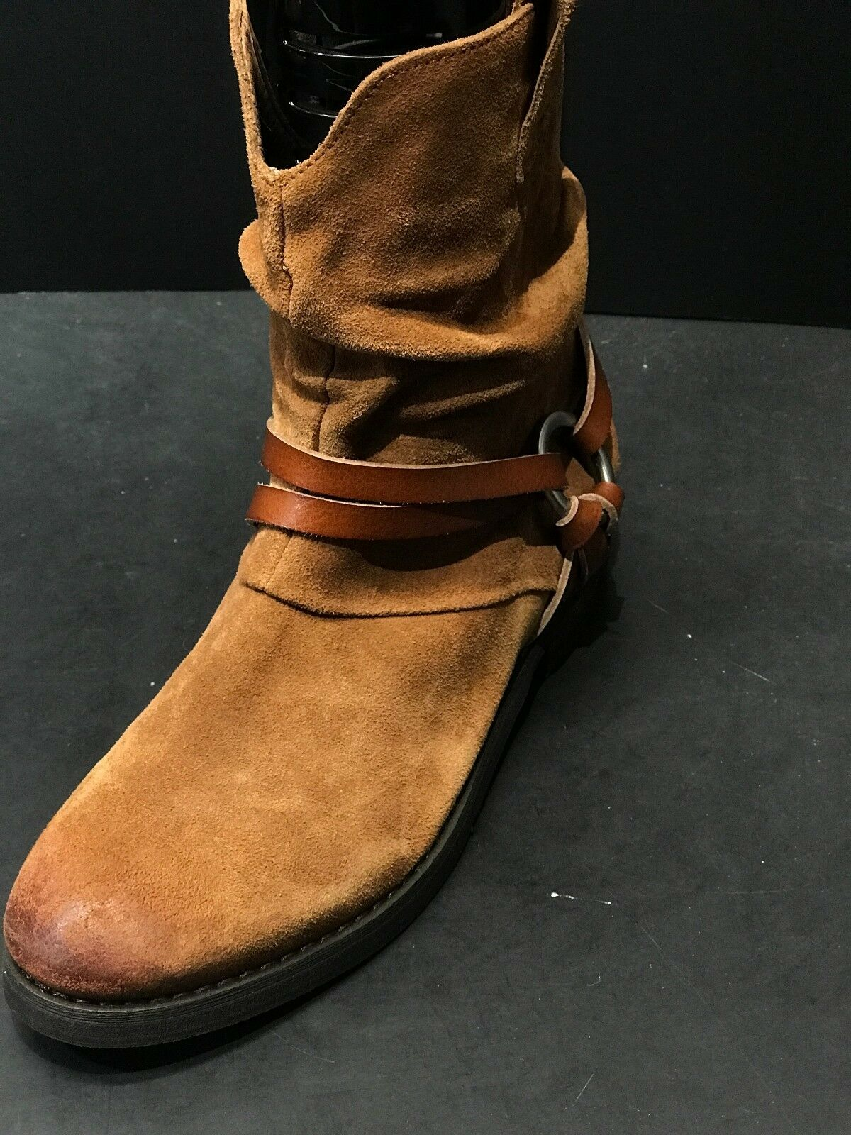 Corso Como Seaton Tan Suede Western ANKLE Women's Boots Size 7M New