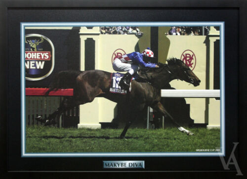 MAKYBE DIVA CHAMPION SERIES FRAMED & LAMINATED 2003 HORSE RACING MEMORABILIA