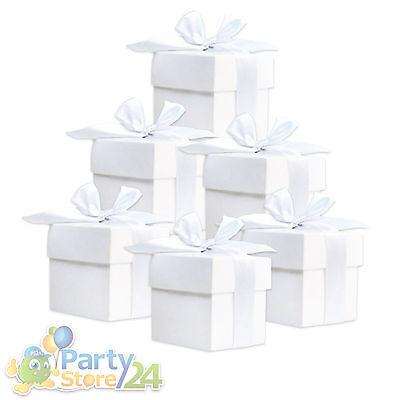 Deko Box 10/20/50 St. mit Schleife Hochzeit Dekoration Baby Basteln Gastgeschenk
