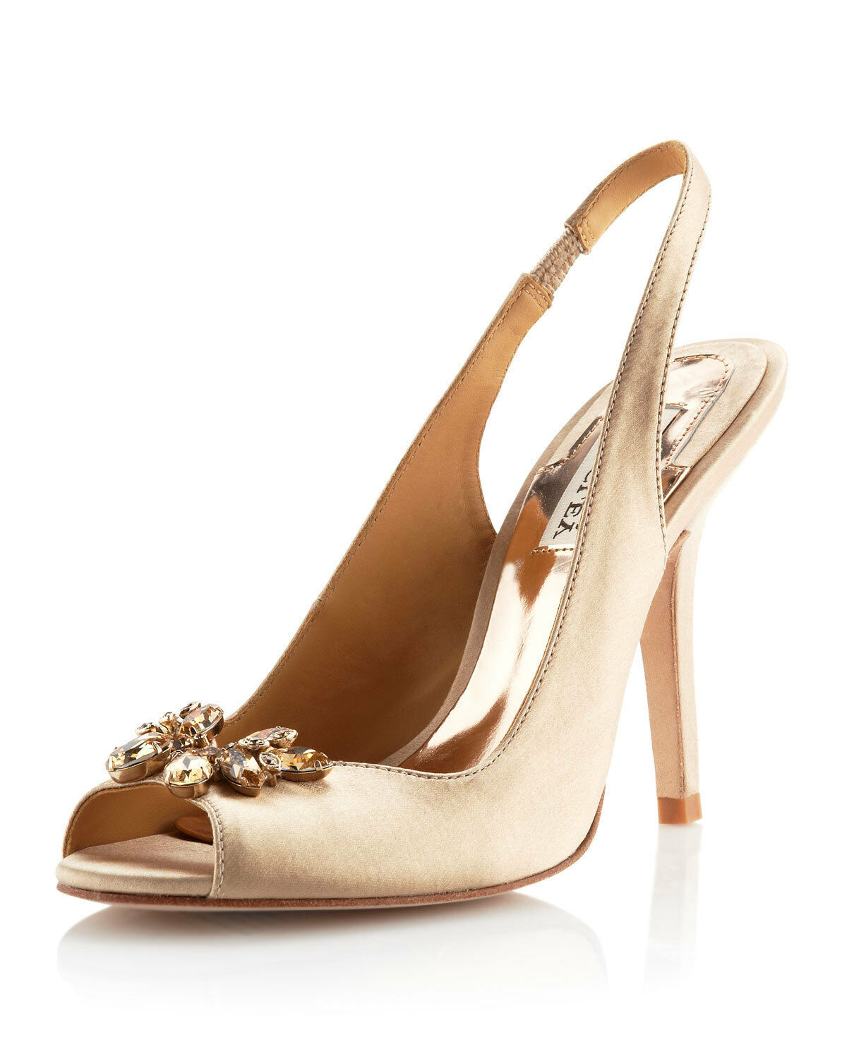 Badgley Mischka Sally slingback sandals open toe schuhe schuhe schuhe Nude Natural 6,5 NEW 0236b1
