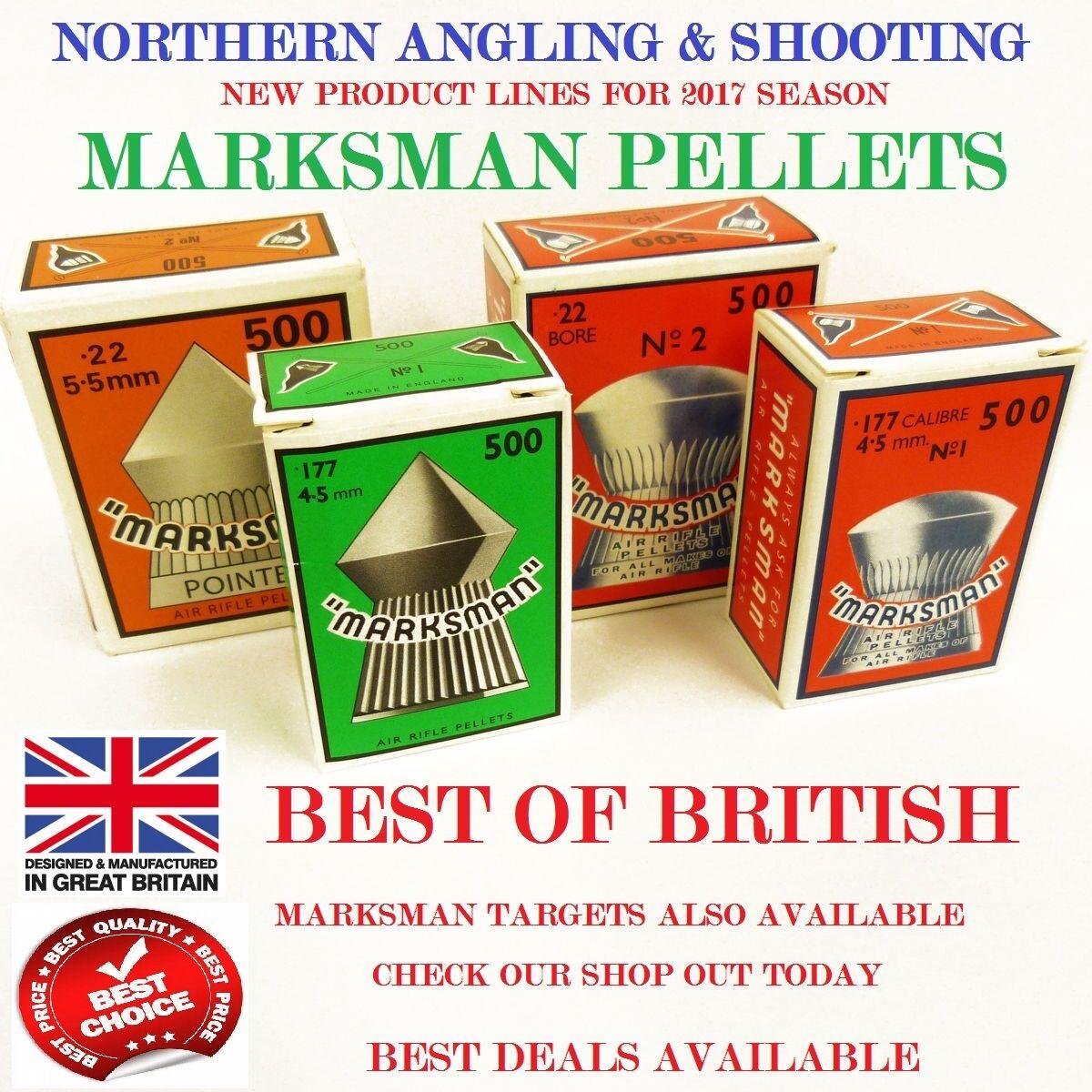 Marksman Air Gun Pellets .22 .177 .25 Domed, Pointed, Pistol, Airgun, Rifle,