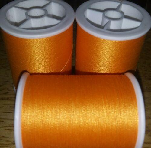 Coats /& Clark Dual Duty Sewing Thread Lot 3 spools 280 yd ea TANGERINE ORANGE
