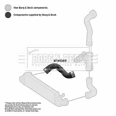 5 YEAR WARRANTY GENUINE Borg /& Beck Charger Intake Hose Turbo BTH1359