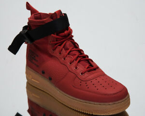 the best attitude 7433e 593b2 Nike SF Air Force 1 Mid Men's Lifestyle Shoes Dune Red 2018 ...
