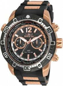 wachawant-Invicta-24582-Aviator-Quartz-50mm-Rose-Gold-Black-Men-039-s-Watch