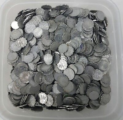 Lot 4 Pound 1816 Grams Of Mixed Old Israel ALUMINUM Coins Private Collection