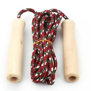 Smooth Wooden Handle Skipping Jump Rope Fitness Supplies Children Students Tools