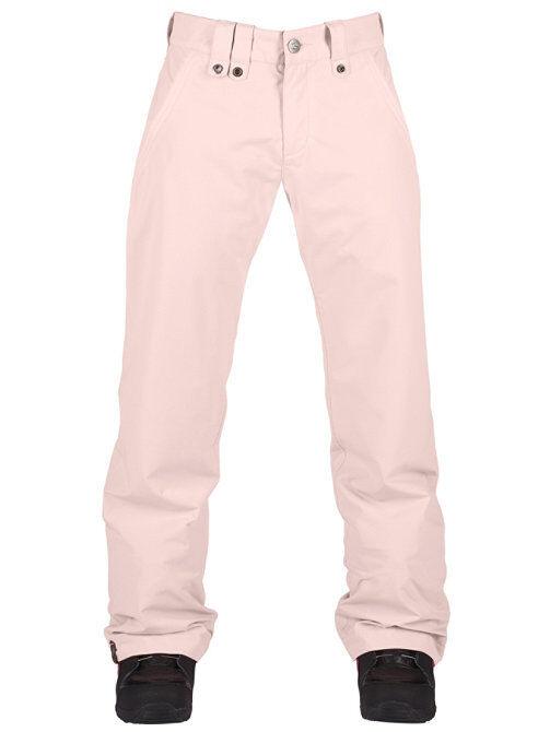 New Womens Bonfire Ellis Snowboard Pants Medium Barely Pink