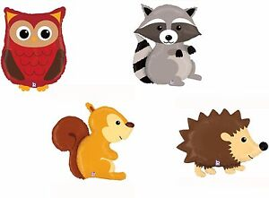28173cacb79632 Image is loading Woodland-Critters-Animal-Foil-Balloon-Birthday-Farm-Jungle-