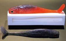 "SOFT PLASTIC FISHING BAIT LURE MOULD (MOLD) SWIM BAIT 8"""