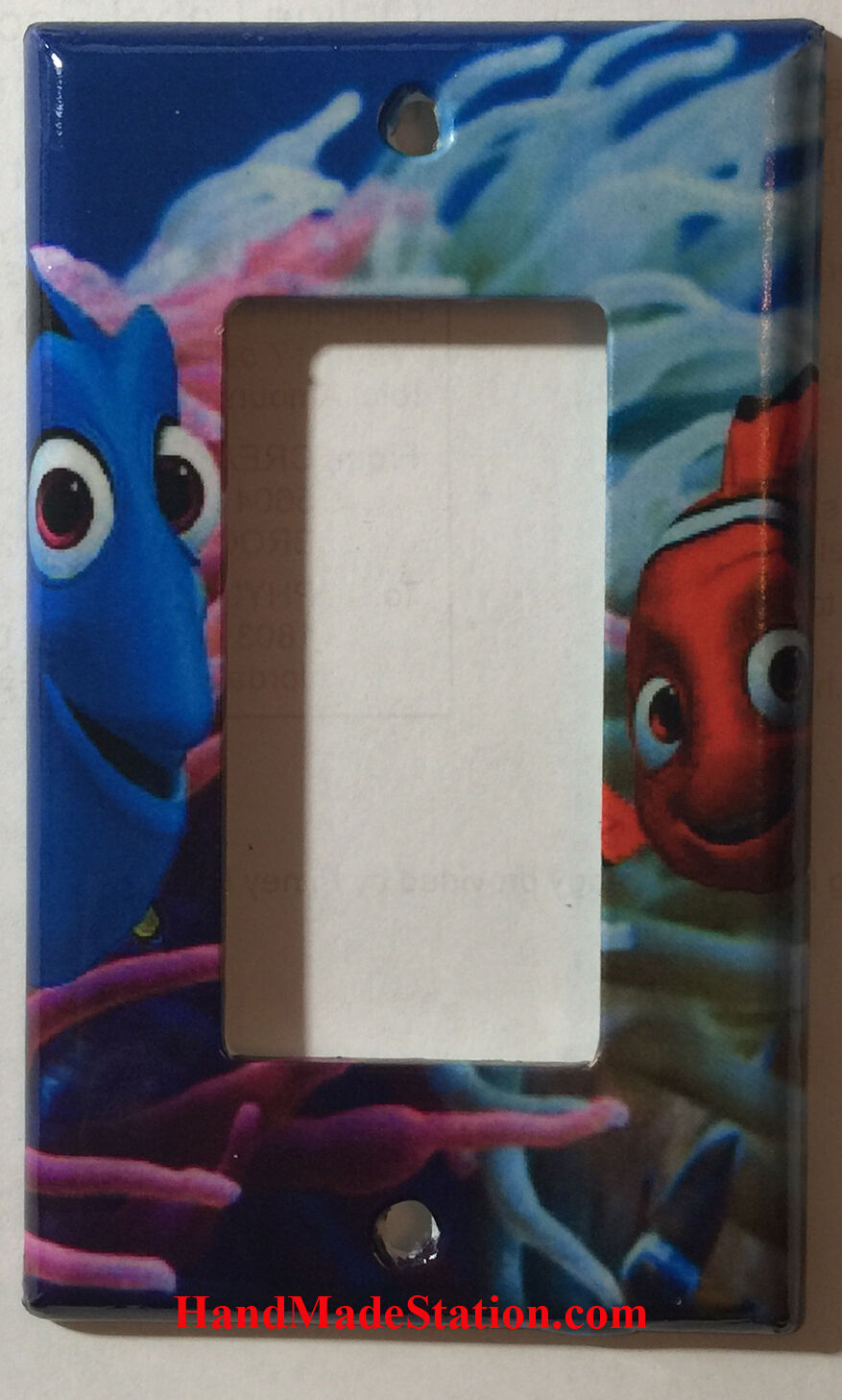 Finding Nemo Dory Toggle Light Switch Plate Single