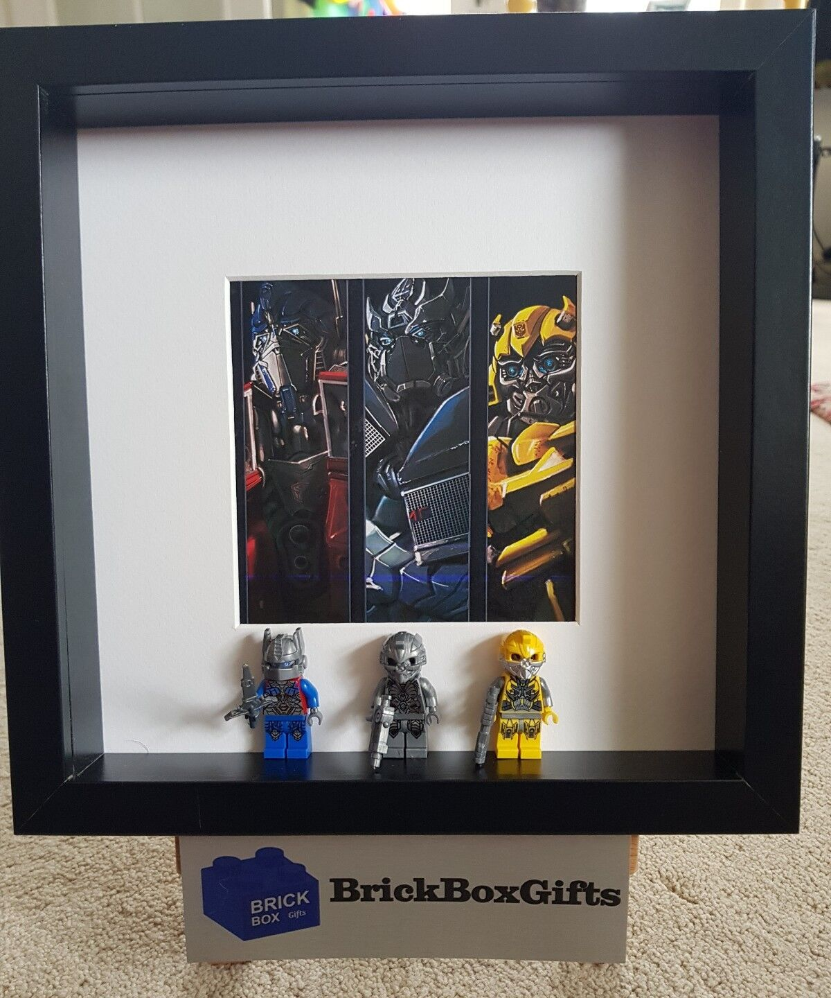 Transformers Movie 3D Frame Minifigure Optimus Prime and Bumblebee
