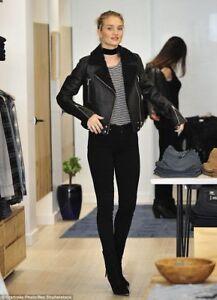 For Whiteley Shearling Rosie Black Women Leather Huntington Jacket 6w5pqa