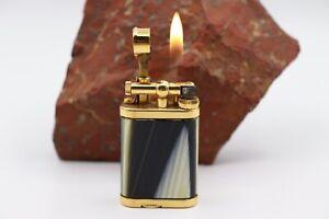 Dunhill-Unique-Mini-kuenstliches-Horn-Lighter-Feuerzeug-vergoldet-sehr-gut