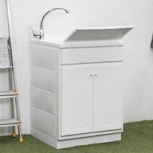 Mobile lavanderia 60x60 cm lavatoio con due ante lavello e asse ...