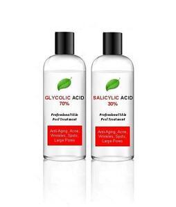 70% Glycolic Acid AHA Skin Peel + 30% Salicylic Acid BHA – Acne - 100ml + 100ml