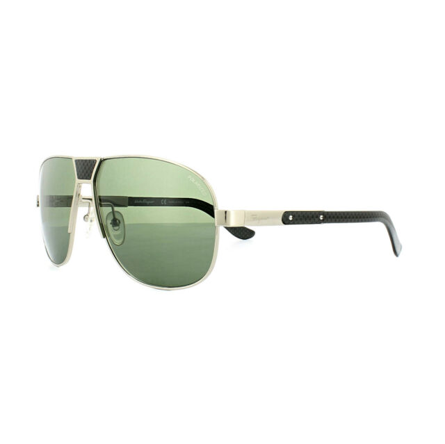 ce90b586a4 Salvatore Ferragamo Sunglasses SF137SP 717 Shiny Gold Grey Green Polarized