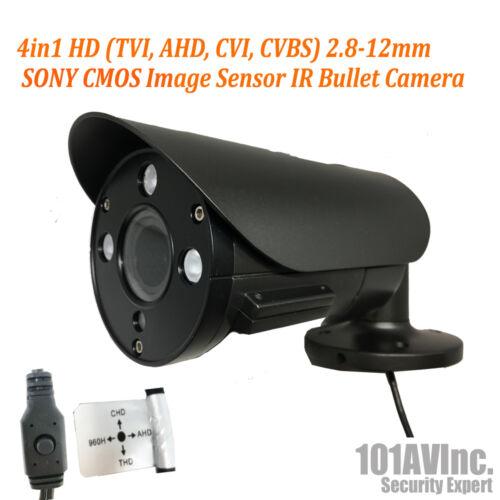 1080P Security Bullet Camera 2.8-12mm Fixed Lens HD TVI CVI AHD CVBS Analog