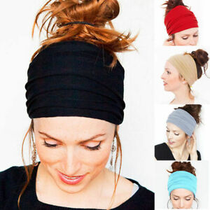 Women-Lady-Wide-Sports-Yoga-Headband-Stretch-Hairband-Elastic-Hair-Band-Turban