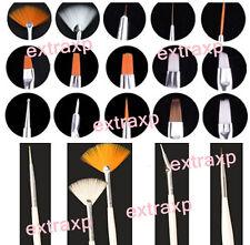 White 15pcs Nail Art Tip Varnish Polish Liner Brushes Painting Pen Kit Set Tools