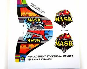 Image Is Loading Mask Stickers For Kenner M A S K Raven Personalized