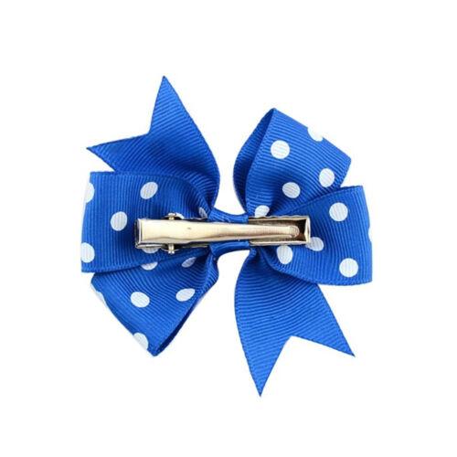 20 pcs Assorted Baby Girls Polka Dot Hair Bows Hair Pins Headwear Accessories