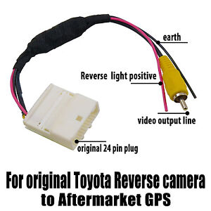 video adaptor cable for toyota kluger rav4 oem reverse camera to gps