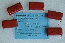 5 Pcs 400v 047uf 474k 047mfd Panasonic Ecwf Series Polypropylene Capacitor New