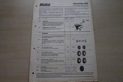 Preise & Extras Prospekt 12/1975 GläNzend Kompetent 163637 Hako Hakorette 200