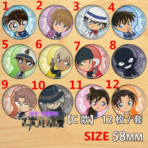 "T1191 Anime Detective Conan badge Pin button Schoolbag Decorate 5.8CM 2.3/"" A"