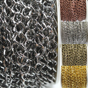 1M-5M-Silver-Gold-Plated-Cable-Open-Link-Iron-Metal-Chain-Jewelry-Finding-DIY