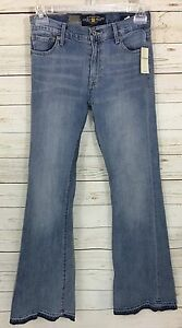 Lucky-Brand-Jeans-Olivia-Flare-High-Rise-Light-Wash-Distressed-Size-2-26-NWTs
