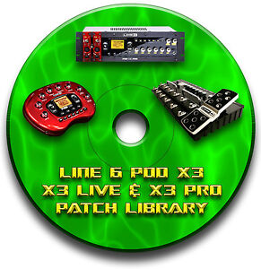 LINE-6-POD-X3-LIVE-PRO-PRE-PROGRAMMED-TONE-PATCHES-CD-OVER-7500-GUITAR-EFFECTS
