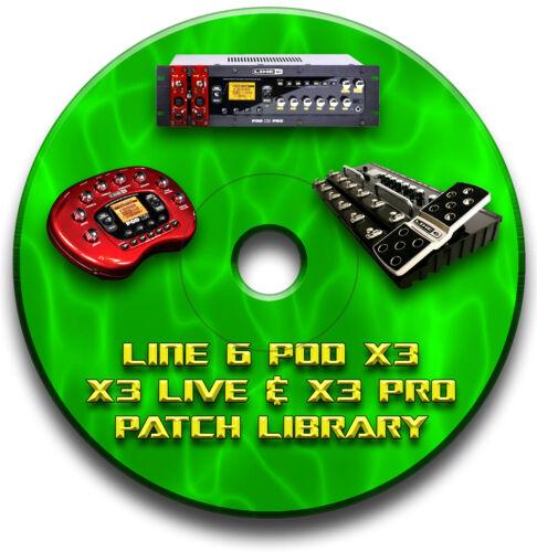 Line 6 Pod X3 Live Pro vorprogrammiert Patches CD 2000 Gitarren Effektpedal