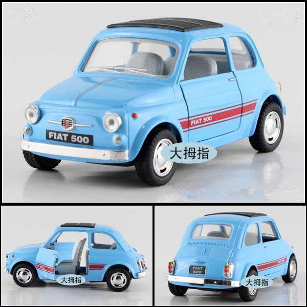 Fiat 500 Model Cars Toys 5 Alloy Diecast 1 24 Open Two Doors Light