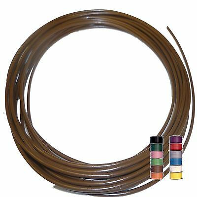 BROWN (+ 11 TRACERS) - THINWALL 1mm2 Automotive Cable /Wire 16.5A – per 5 metres