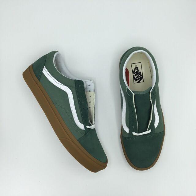 Best sale Vans Old Skool Bumper Men's Skate Shoes Green