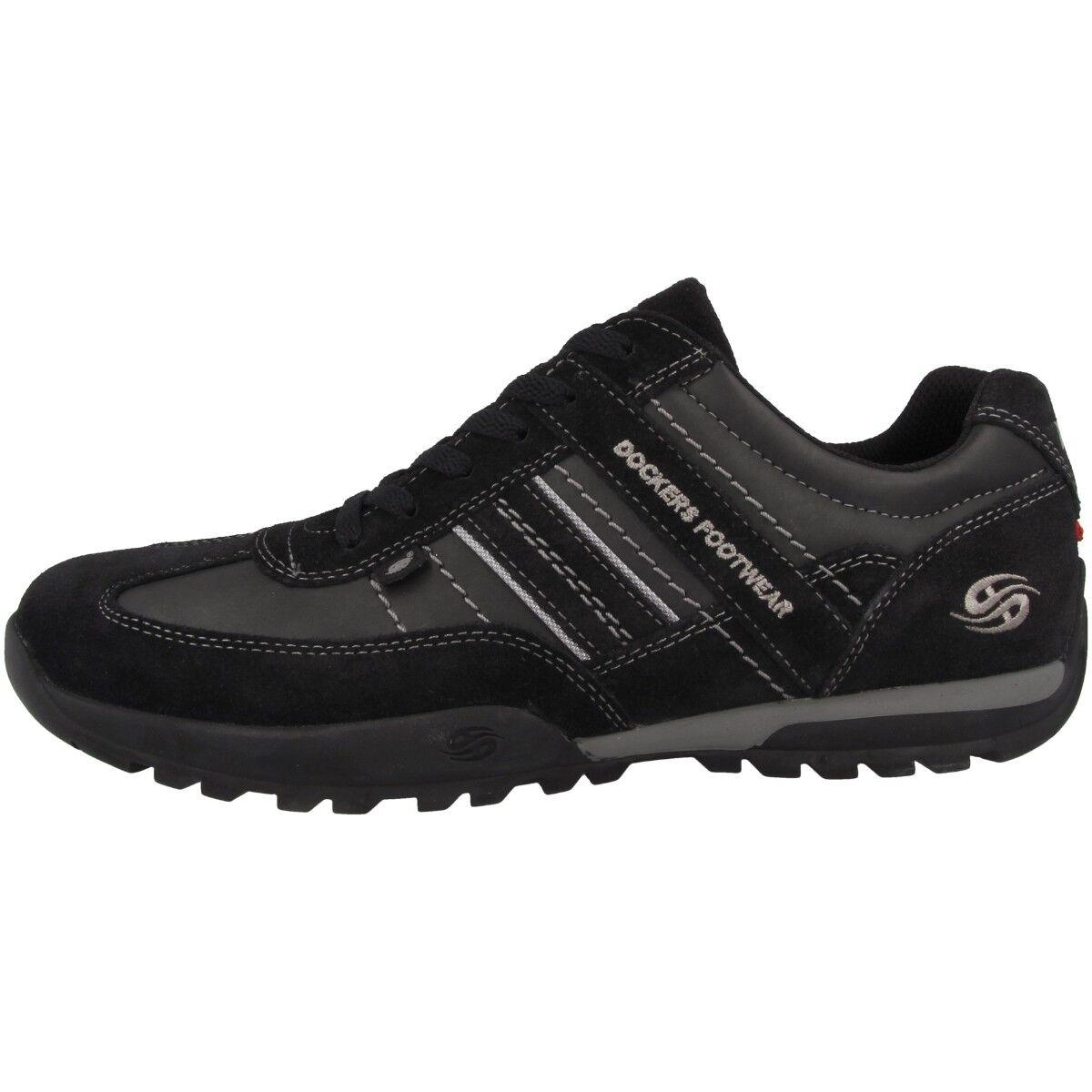 Dockers by Gerli 36ht001 zapatos Men's zapatillas Lace up negro 36ht001-204120