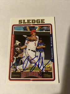 2005 Topps #418 Terrmel Sledge RC Rookie Nationals Autographed Signed