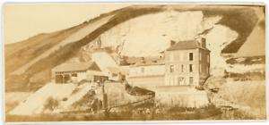 France-Maison-devant-une-falaise-ca-1870-vintage-albumen-print-vintage-albume