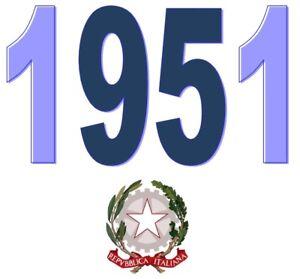 ITALIA-Repubblica-1951-Singolo-Annata-Completa-integri-MNH-Tutte-le-emissioni
